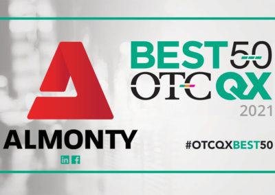 2021 OTCQX 베스트 50에 선정된 알몬티 산업